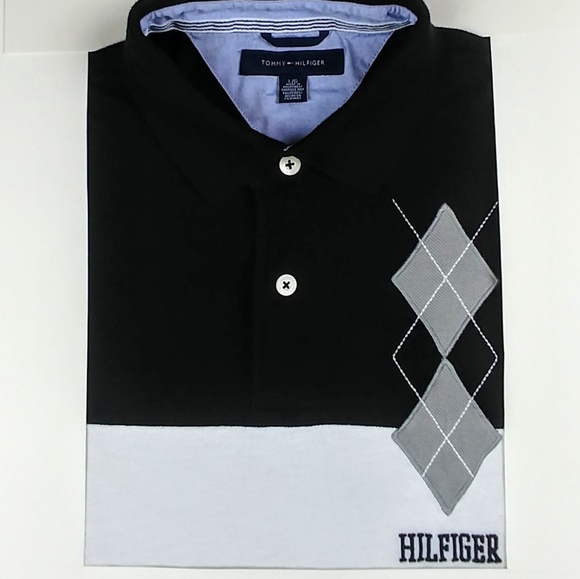 5ec16b8d Tommy Hilfiger Shirts | Argyle Accented Color Block Stripe Spell Out ...